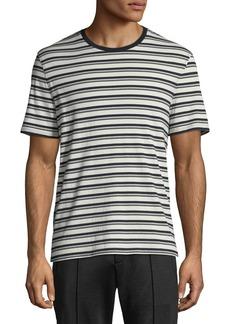 Vince Men's Variegated-Stripe Crewneck T-Shirt