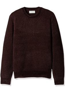 Vince Men's Velvet Ribbed Crew Neck Sweater  S