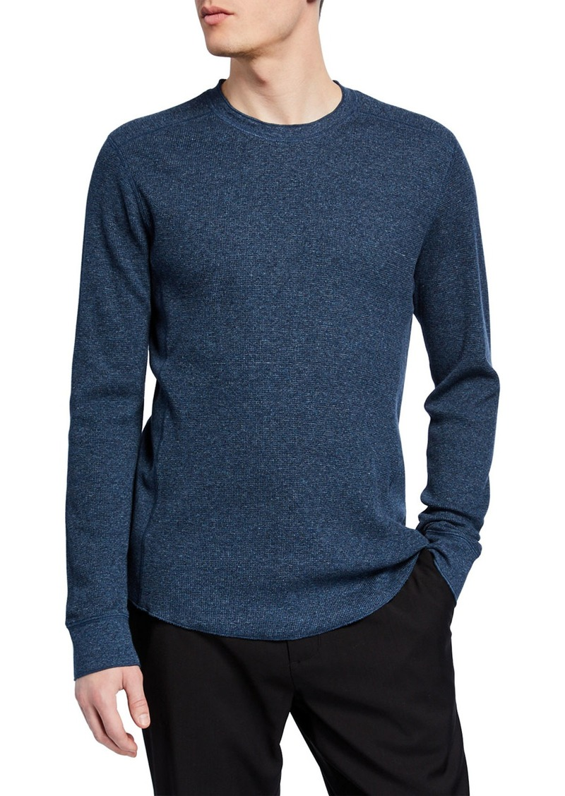 Vince Men's Waffle Long-Sleeve Pullover T-Shirt
