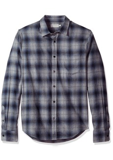 Vince Men's Window Shadow Plaid Long Sleeve Woven  M