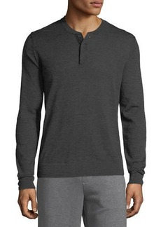 Vince Men's Wool Henley Shirt