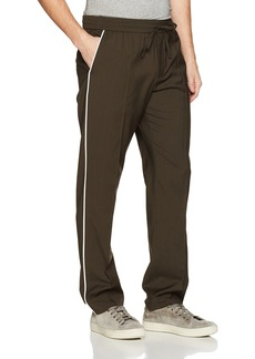 Vince Men's Wool Track Trouser with White Piping  XXL