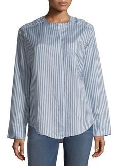 Vince Menswear Striped Silk Shirt