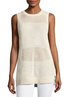 Vince Mesh-Stitch Sweater Tank