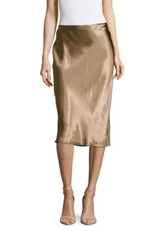 Vince Metallic Pull-On Skirt