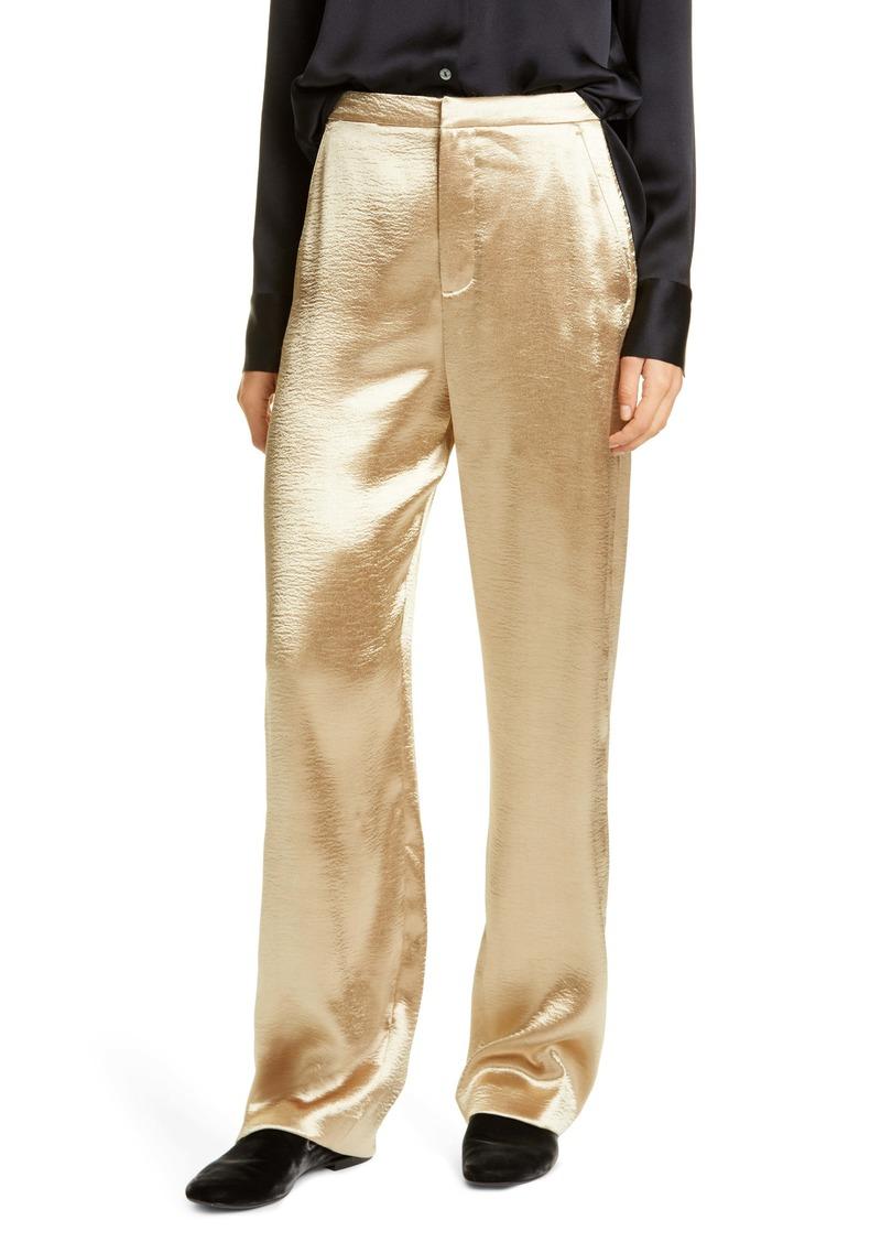 Vince Metallic Wide Leg Pants