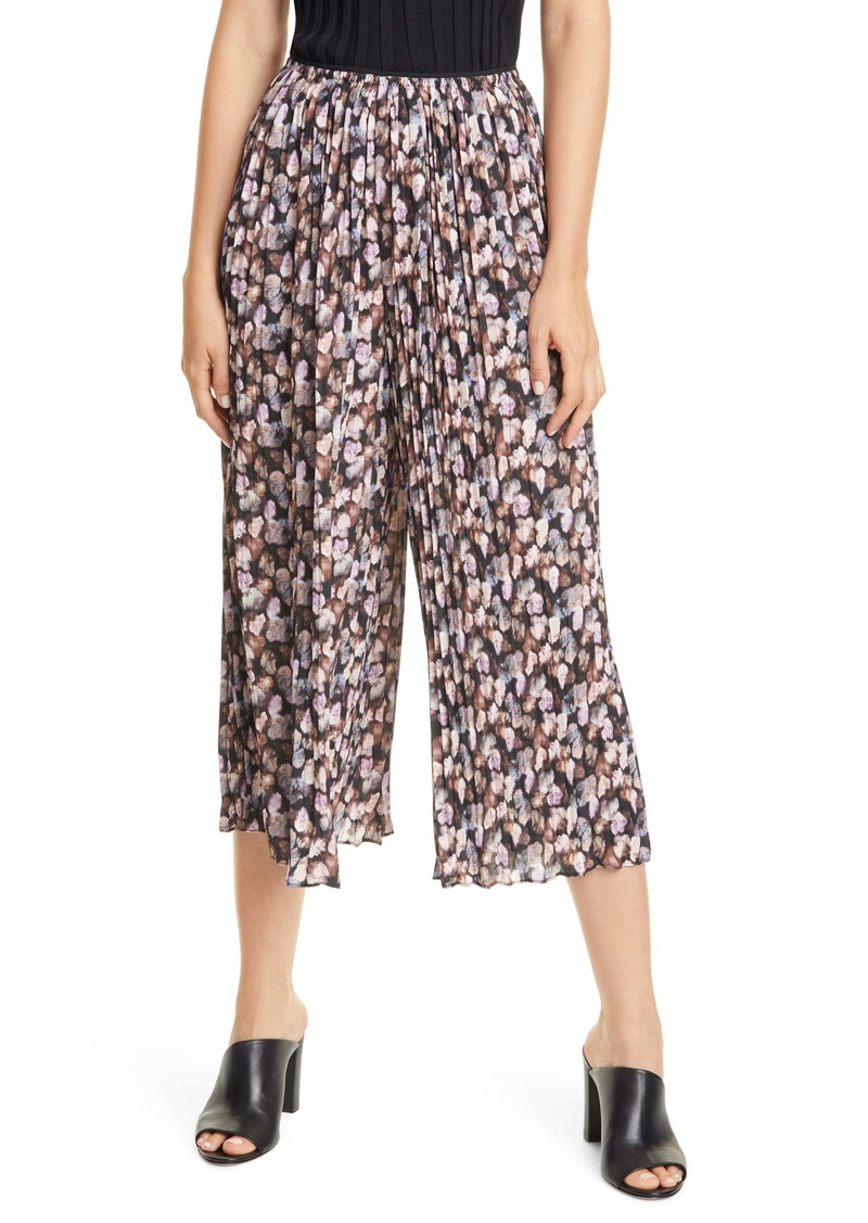Vince Micro Painted Floral Print Culottes
