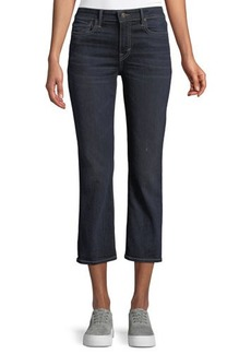 Vince Mid-Rise Cropped Flare-Leg Jeans