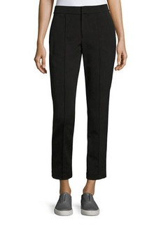 Vince Mid-Rise Fitted Pintuck Trousers