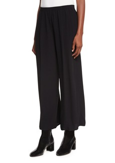 Vince Mid-Rise Pull-On Culotte Pants