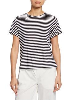 Vince Midi Stripe Crewneck Short-Sleeve T-Shirt
