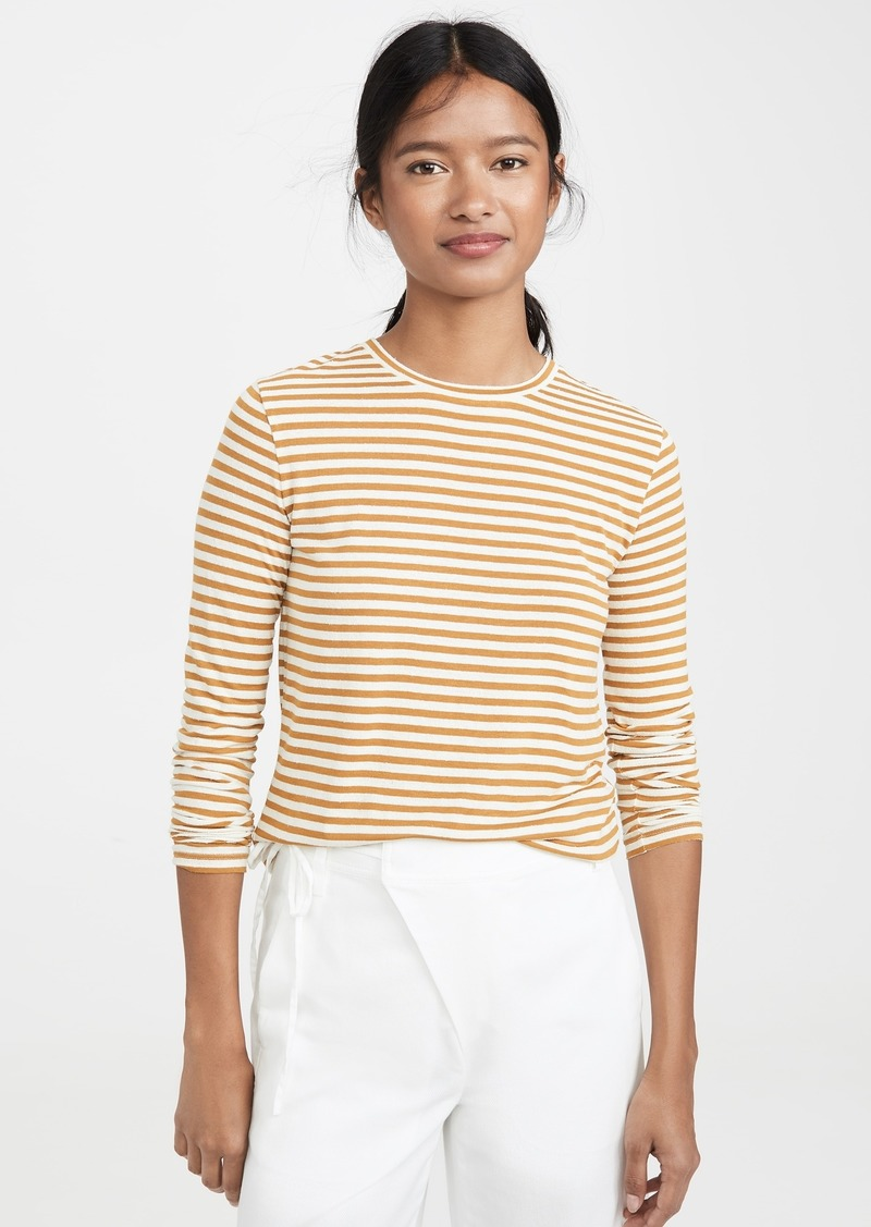 Vince Midi Stripe Long Sleeve Crew