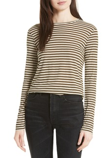 Vince Midi Stripe Long Sleeve Tee