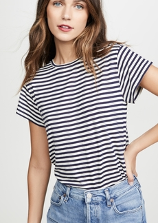 Vince Midi Stripe Short Sleeve Crew Top