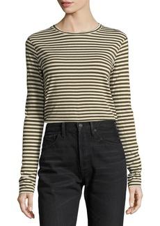 Vince Midi Striped Long-Sleeve Tee