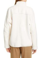 Vince Mix Media Half-Zip Pullover Top