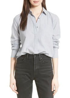 Vince Mix Stripe Silk Shirt
