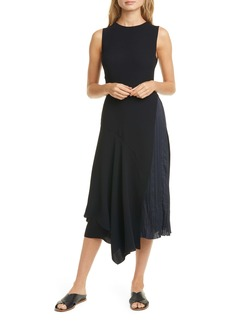 Vince Mixed Panel Sleeveless Dress