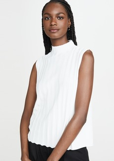 Vince Mixed Rib Sleeveless Turtleneck