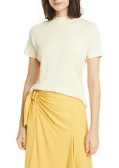 Vince Mock Neck Short Sleeve Pima Cotton T-Shirt