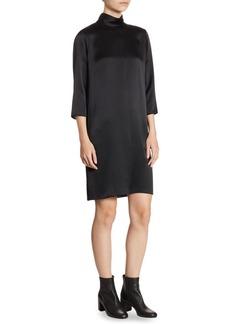 Vince Mockneck Silk Dress