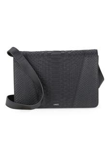 Vince Mod V Python-Embossed Crossbody Bag