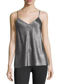 Vince Monochrome Silk V-Neck Camisole