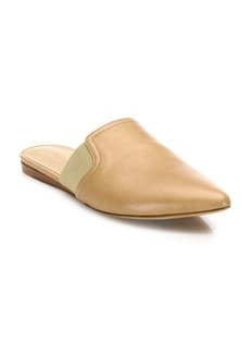 Vince Nadette Leather Point Toe Flat Mules