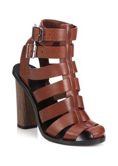 Vince Nicolette Leather Caged Gladiator Sandals