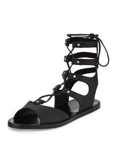 Vince Niva Leather Lace-Up Flat Gladiator Sandal