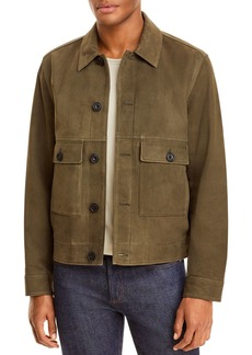 Vince Nubuck Button Front Jacket