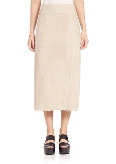 Vince Nubuck Wrap Skirt