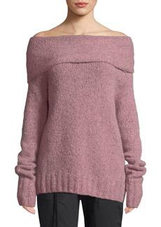 Vince Off-Shoulder Alpaca Pullover Sweater