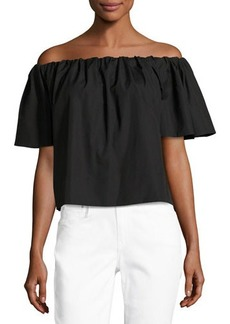 Vince Off-The-Shoulder Cropped Top