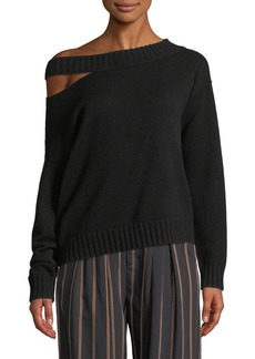 Vince Off-the-Shoulder Slit Pullover Top