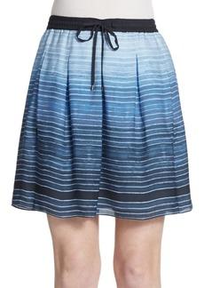 Vince Ombre Stripe Silk Skirt