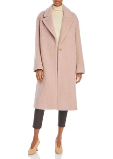Vince One Button Textured Coat