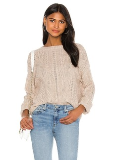 Vince Open Knit Cable Crew Sweater