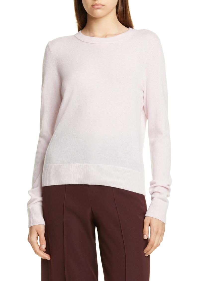 Vince Overlay Cashmere Crewneck Sweater