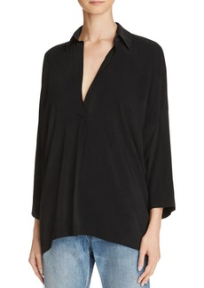 Vince Oversize Collared Blouse