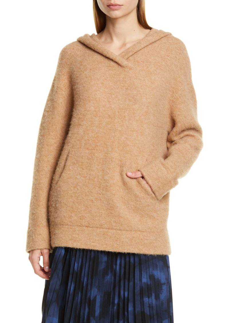 Vince Oversize Hooded Wool & Alpaca Sweater
