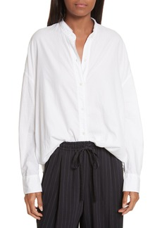 Vince Oversize Raw Edge Blouse