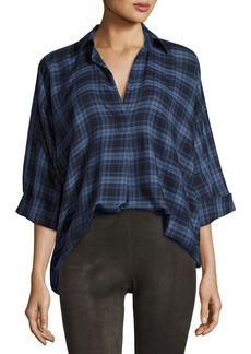Vince Oversized Plaid Blouse