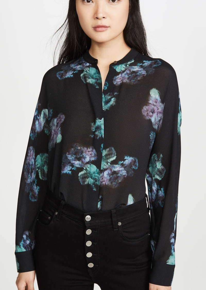 Vince Painted Floral Blouse