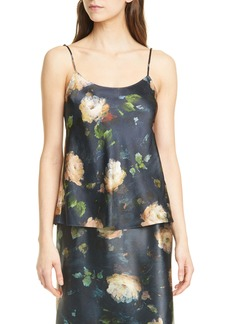 Vince Painted Rose Silk Camisole
