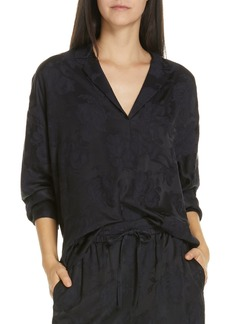 Vince Pajama Style Jacquard Blouse