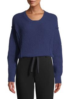 Vince Paneled Crewneck Wool-Blend Sweater