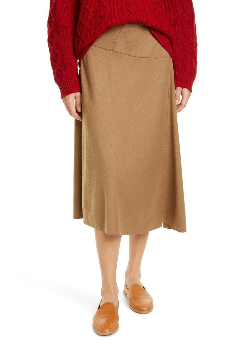 Vince Paneled Wool Blend Skirt