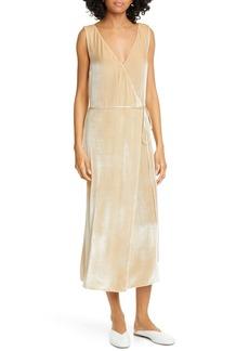 Vince Pann Velvet Wrap Midi Dress