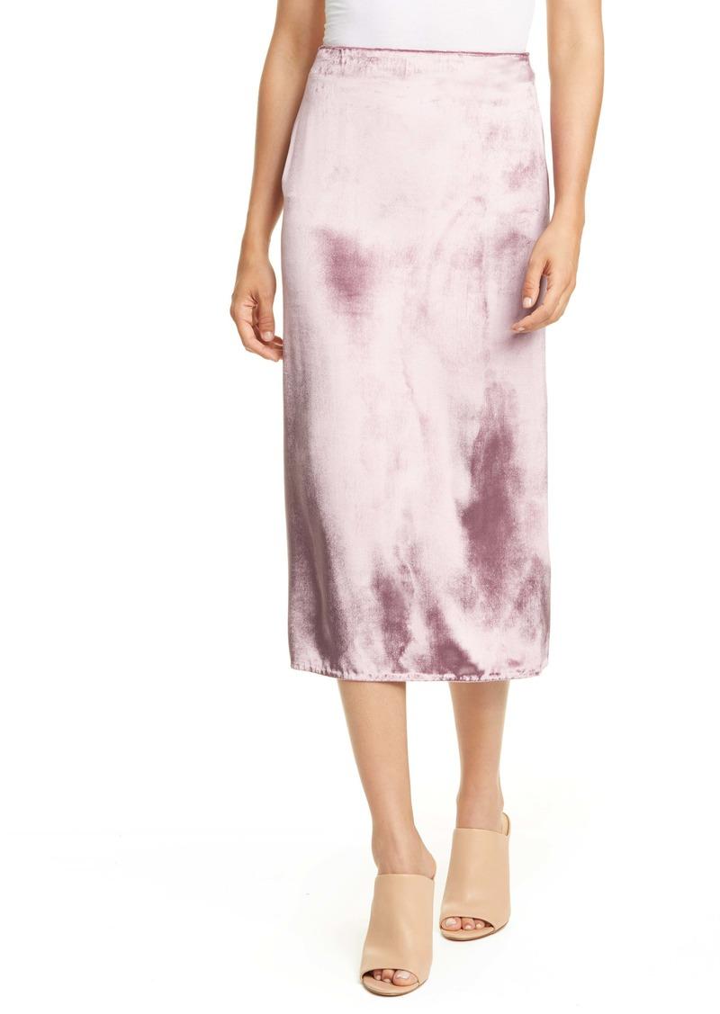 Vince Pann Velvet Wrap Skirt